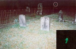 Waverly Hall Cemetery ghost picture.