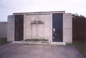 Ghost picture - Capital Memorial Parks Cemetery Mausoleum, Pflugerville, Texas.