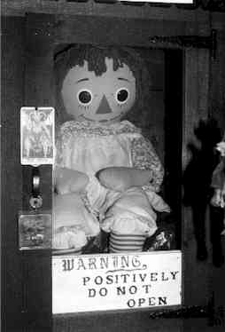 A possessed doll from the Warren's Occult Museum.
